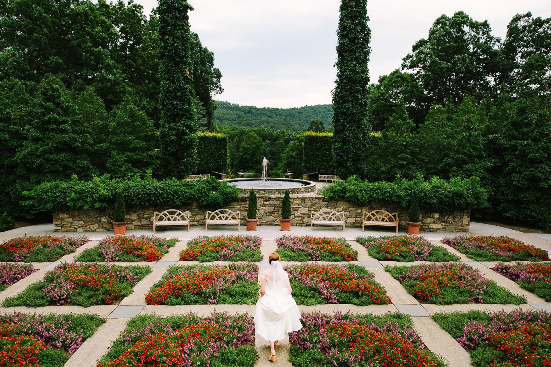 Bride at NC Arboretum in Asheville