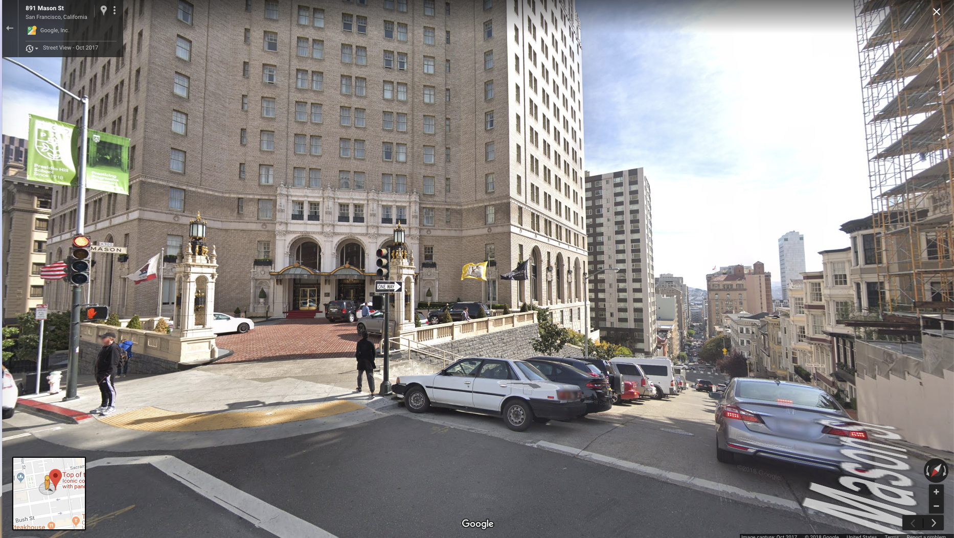 Google Street View facing South on Mason Street (Red Dot)