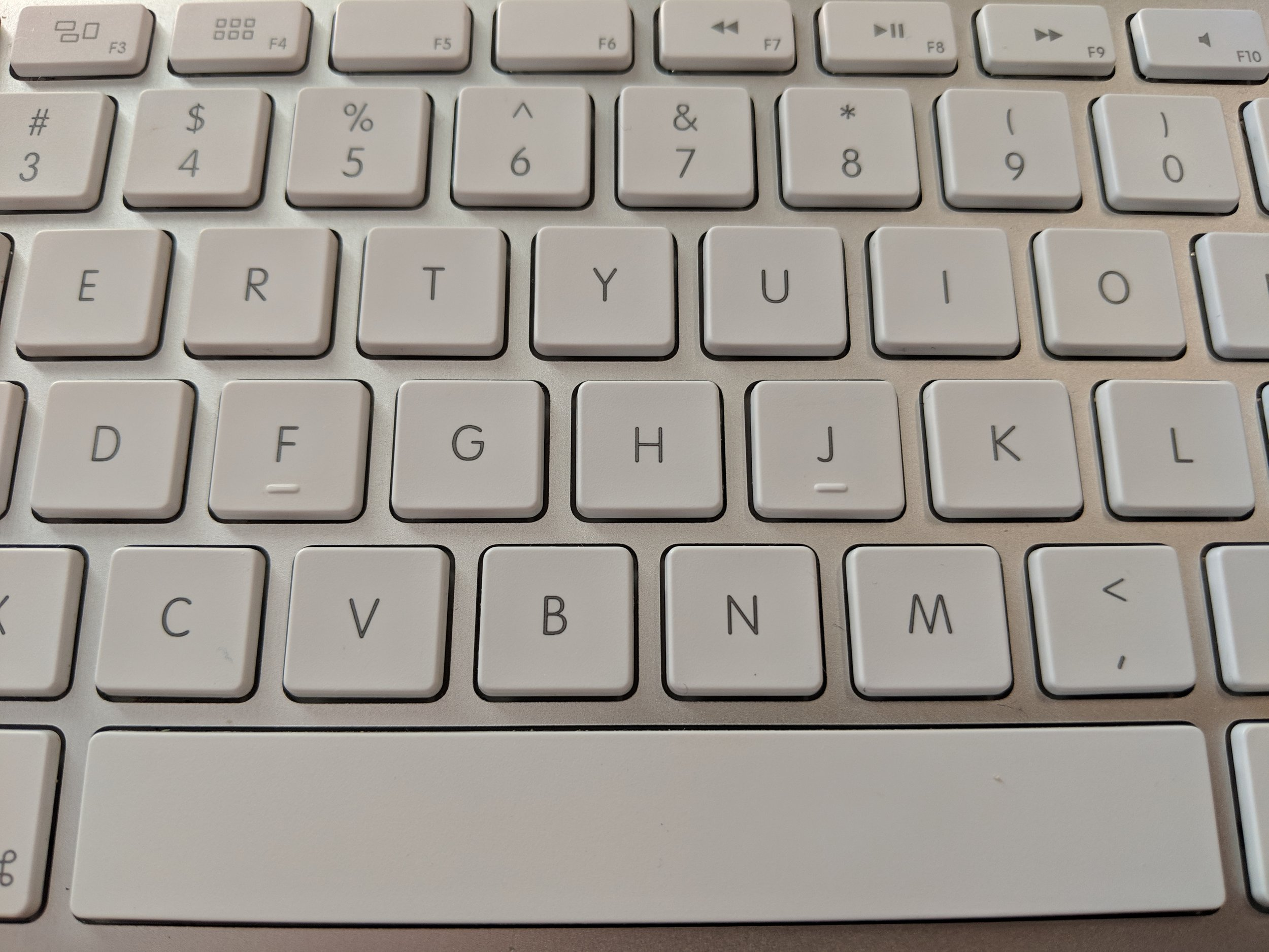 Apple Wired Desktop Keyboard - The longstanding keyboard design largely used across all devices, with significantly more key travel.