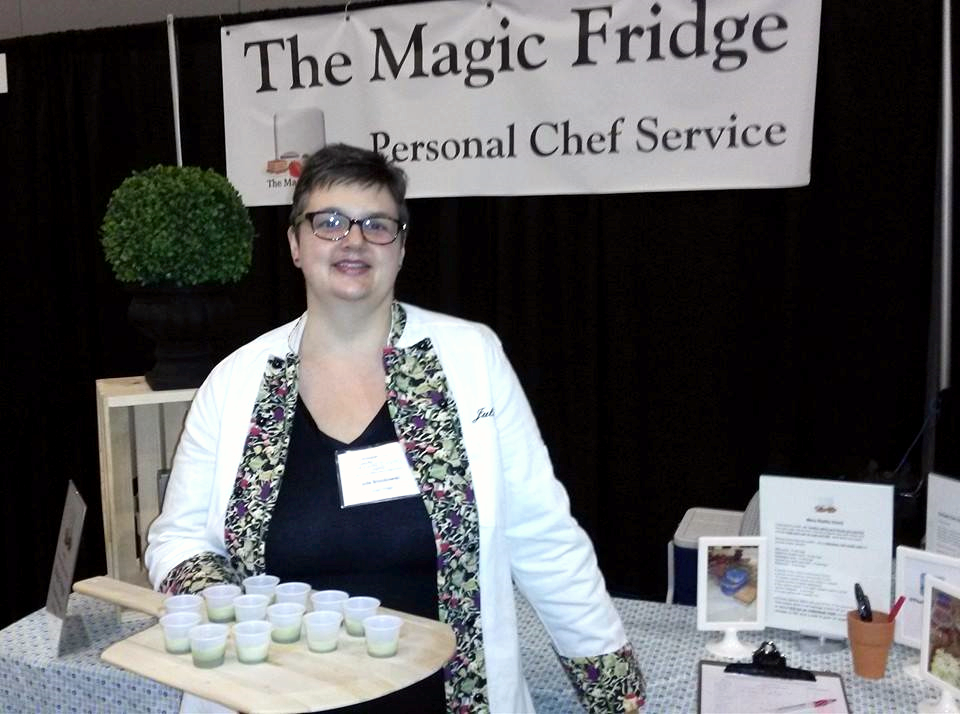 My friend Julie of The Magic Fridge at the Live the Smart Way Expo