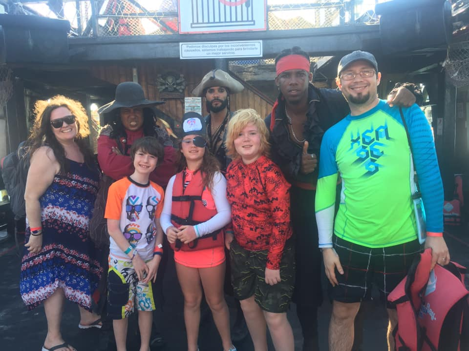 Meeting these pirates was a super fun highlight of our trip to the Dominican Republic!
