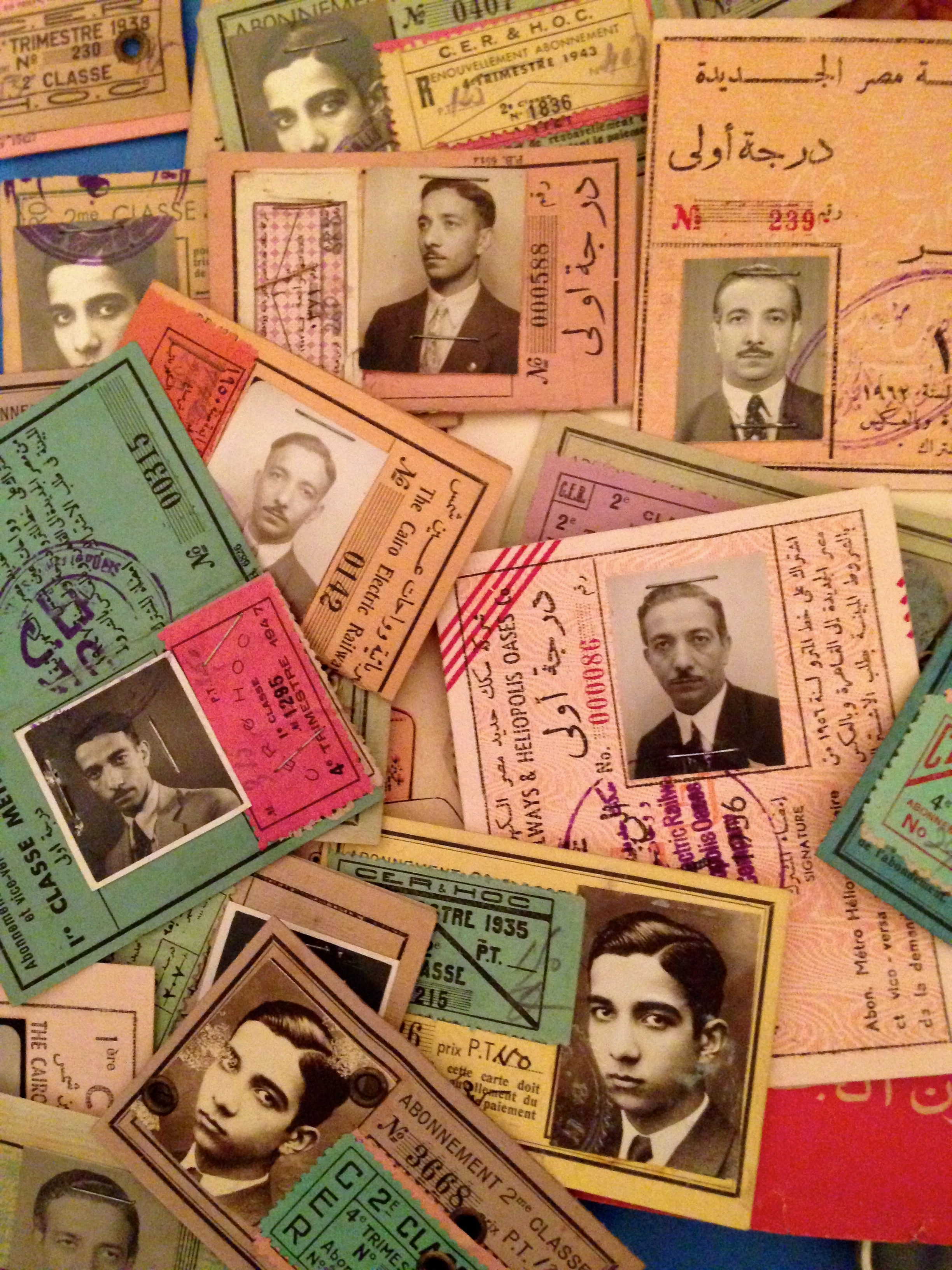 Mint condition bus passes, spawning decades, owned by one obsessive-compulsive Egyptian citizen, and now by my friend and collector Amgad Naguib.