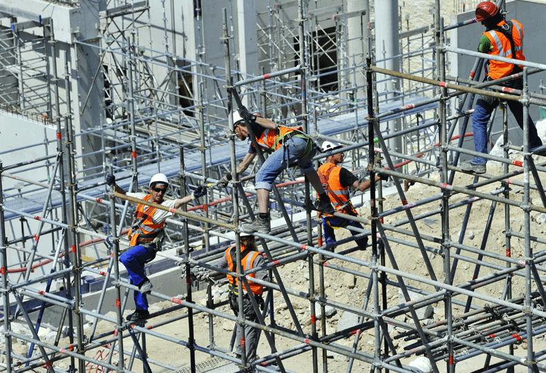 Saudi construction workers