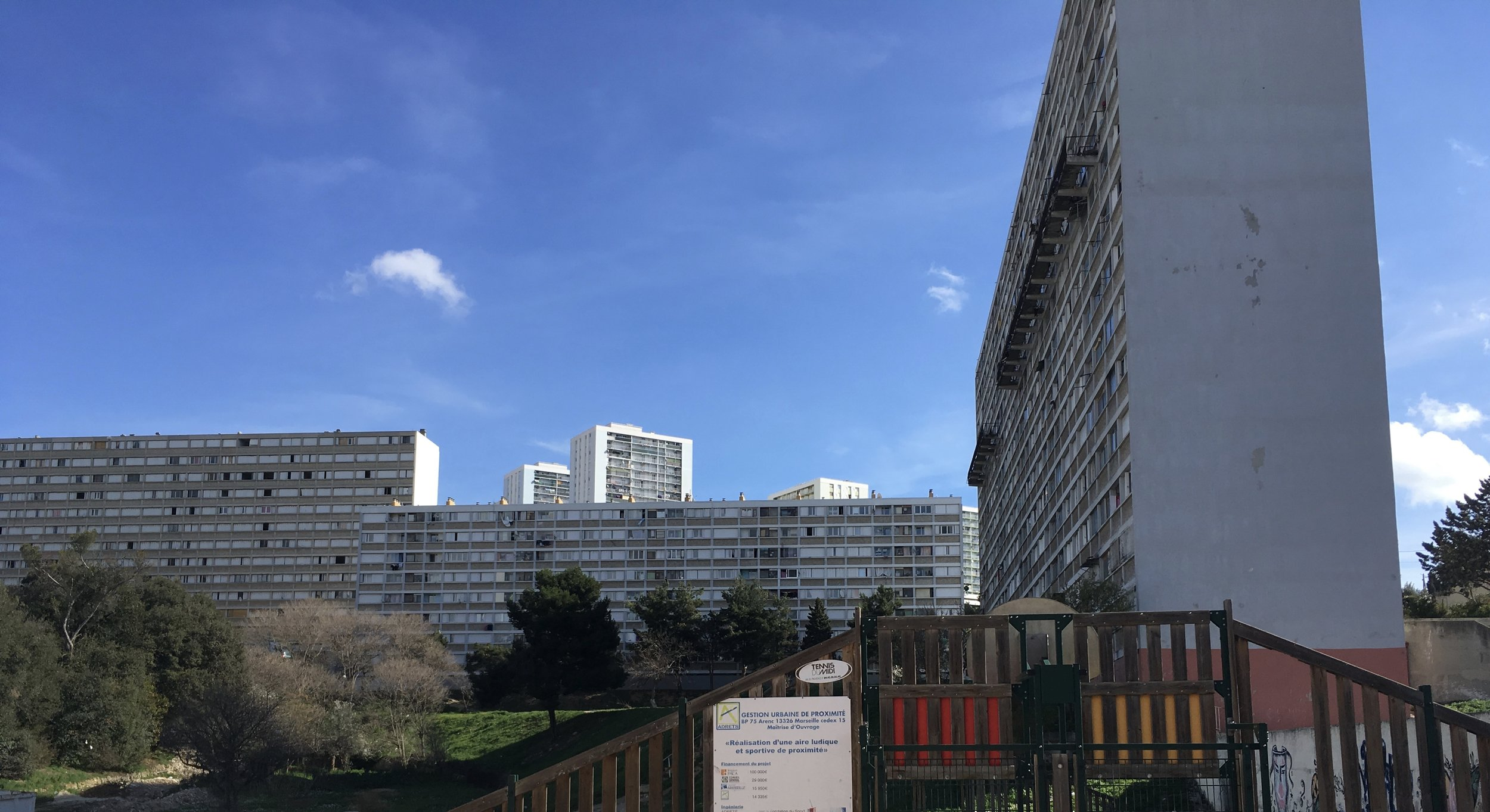 Housing projects on the outskirts of the city.