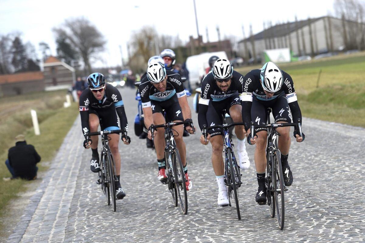 Boonen, Vandernergh og Terpstra har 40km på å knuse Ian Stannard i Omloop 2015…