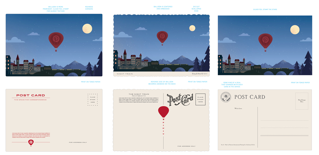 Early postcard explorations