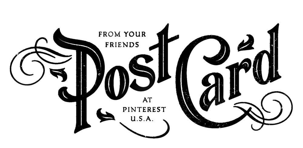 I reworked some found typography from an old postcard for the indicia