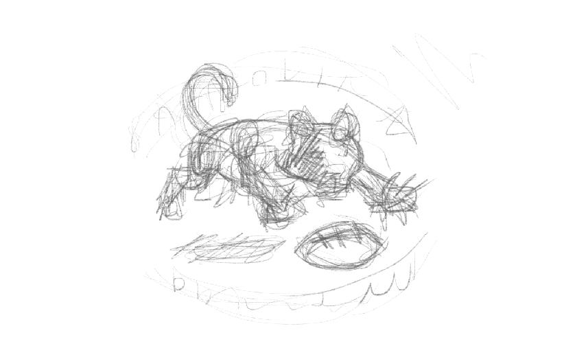 Embarrassing pencil sketch