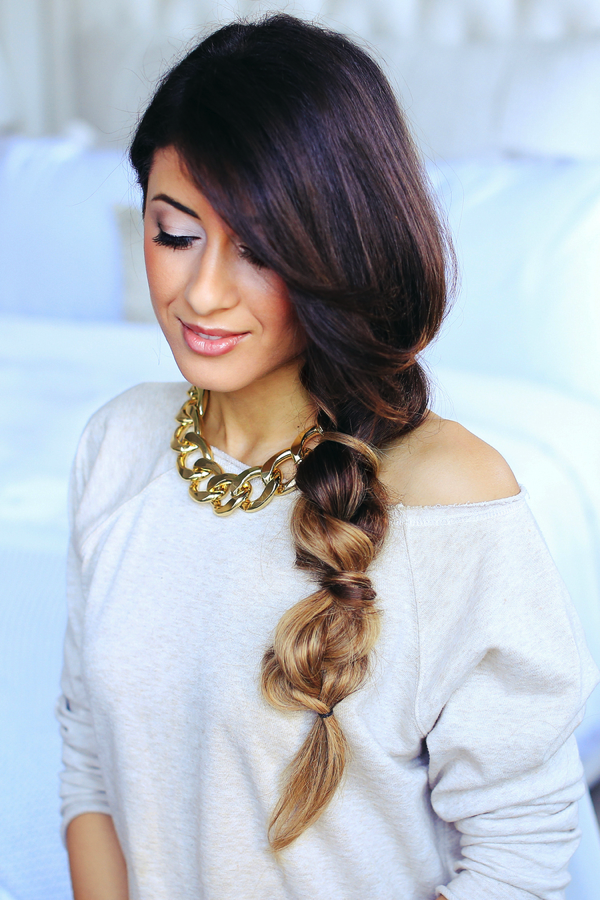 4. The Bubble Braid - (Via Luxy Hair Blog )