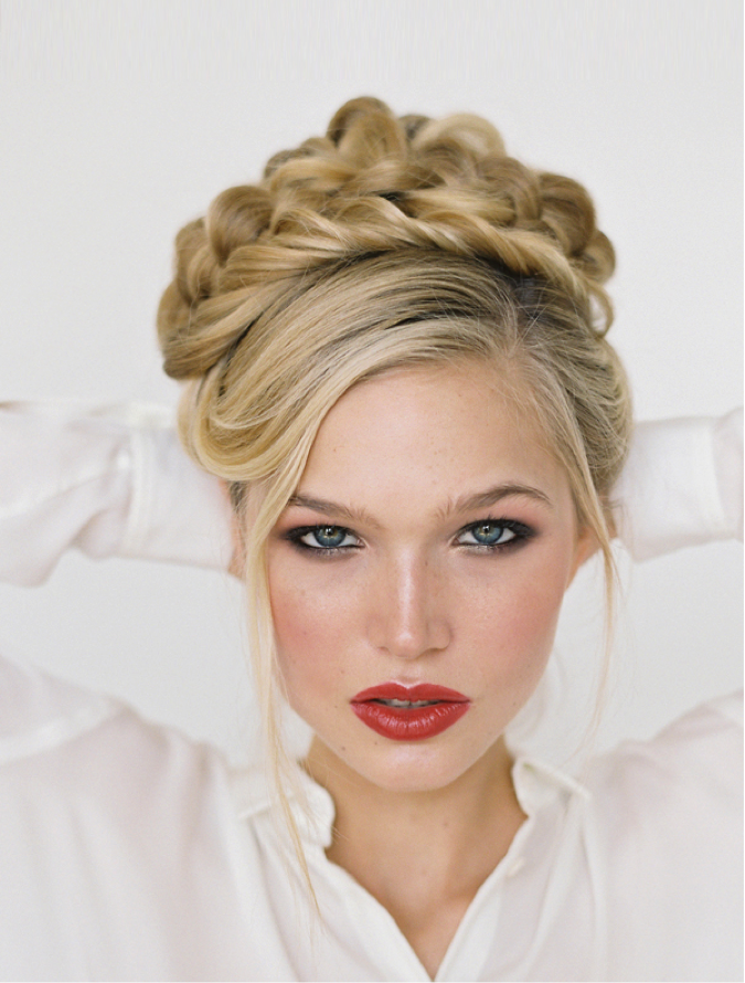 6. Braided Updo - (Via Once Wed)