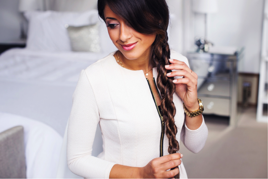 7. The Chain Braid - (Via Luxy Hair Blog)