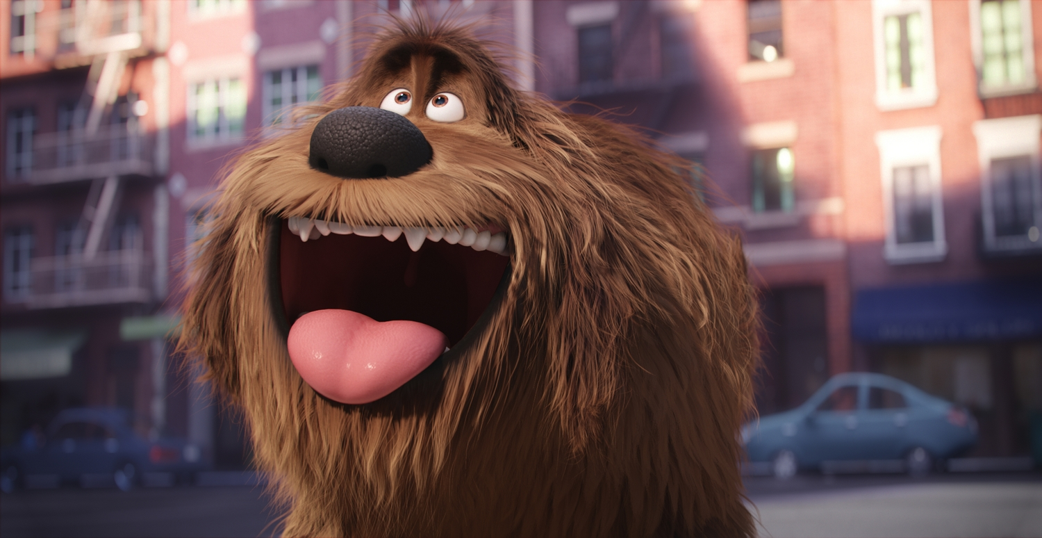 """Duke (ERIC STONESTREET) is a giant, fluffy, unruly rescue in Illumination Entertainment and Universal Pictures� """"The Secret Life of Pets,"""" a comedy about the lives our pets lead after we leave for work or school each day."""