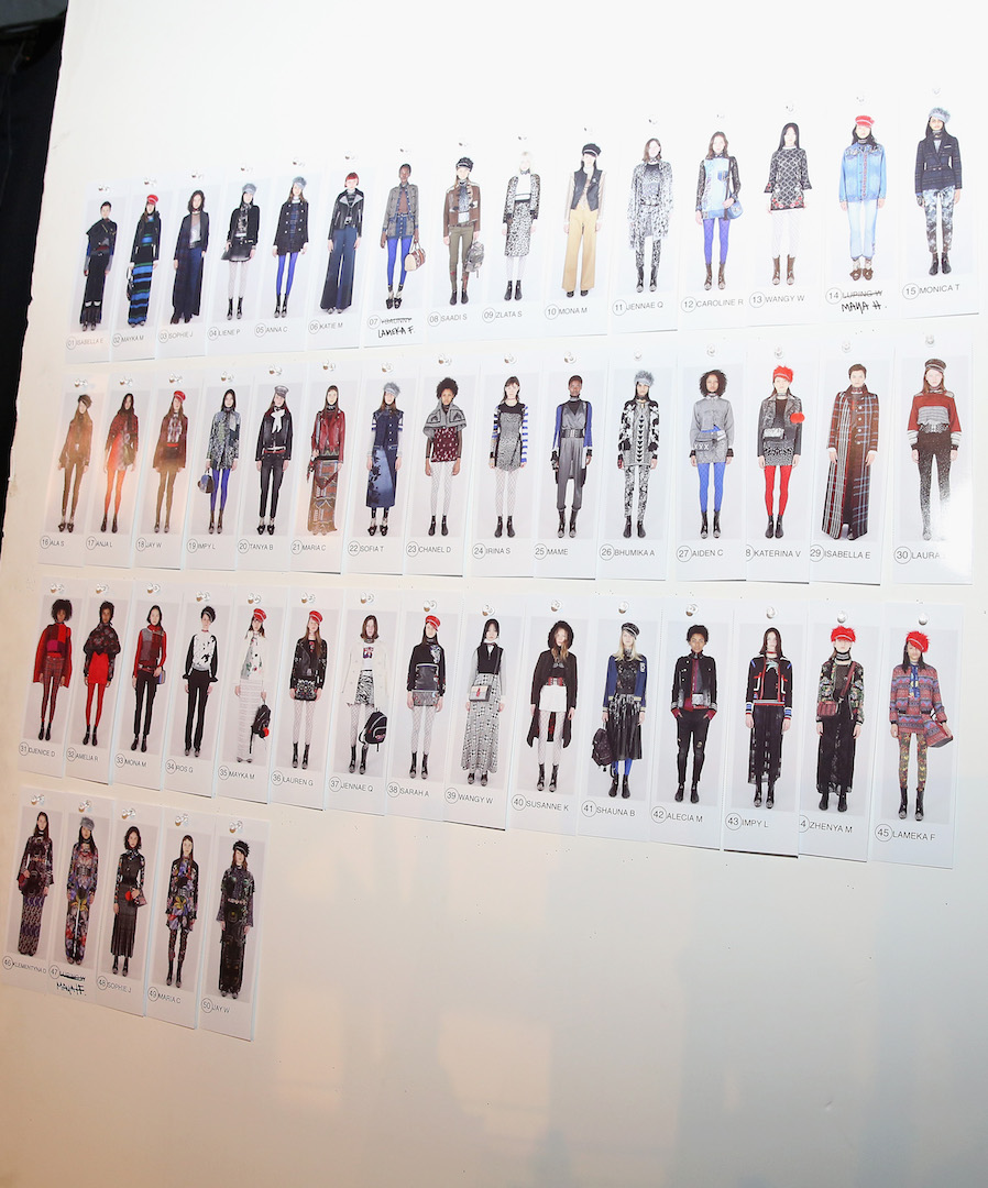 NEW YORK, NY - FEBRUARY 09:  A view of a photo board before the Desigual fashion show during, New York Fashion Week: The Shows  at Gallery 1, Skylight Clarkson Sq on February 9, 2017 in New York City.  (Photo by Robin Marchant/Getty Images for Desigual)