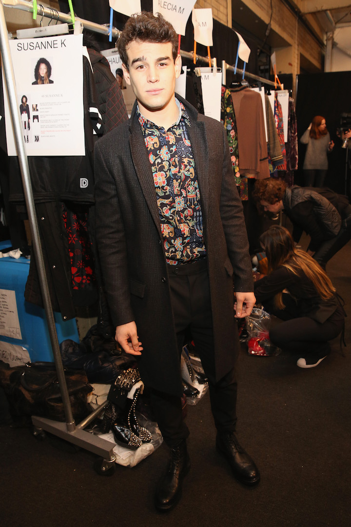 Alberto Rosende poses backstage before the Desigual fashion show during, New York Fashion Week: The Shows  at Gallery 1, Skylight Clarkson Sq on February 9, 2017 in New York City.