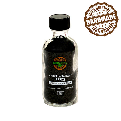 Ethiopian Black Seeds 2oz - Product DetailsVery famous Middle East food spice. BioNatal imports Nigella Sativa seeds of 99% purity after SORTEX cleaning. We complete cleaning of the seeds manually in our lab.