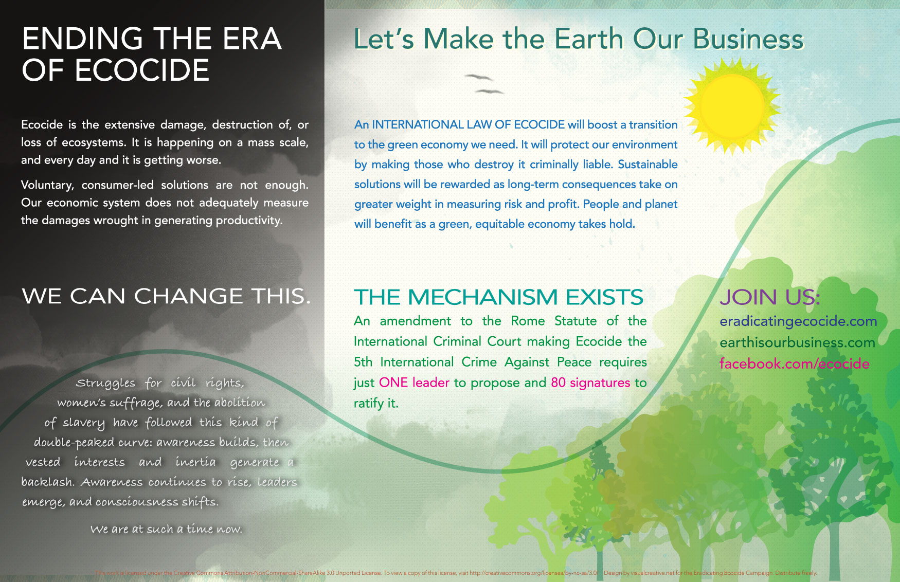 Visit  Eradicating Ecocide .