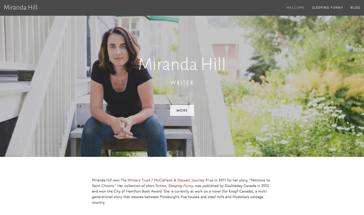 Miranda Hill, Author