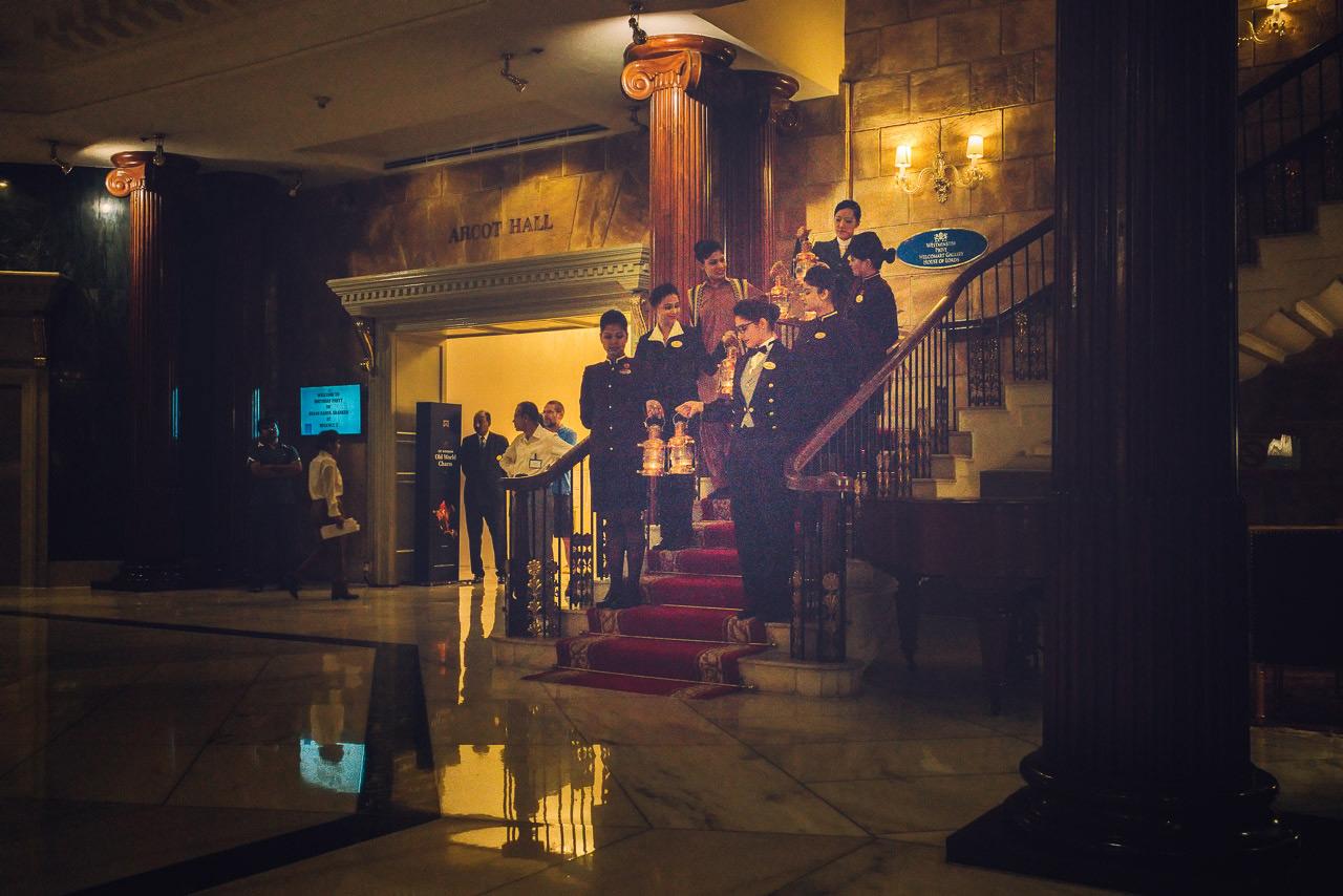 The lobby at the ITC Windsor Manor, Bangalore