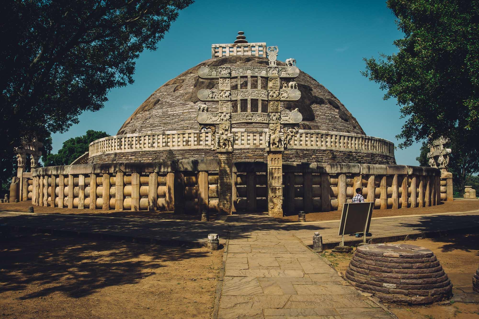 The Main Stupa at Sanchi