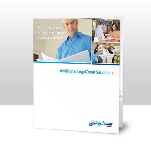 LegalZoom Service Listing Insert Cover