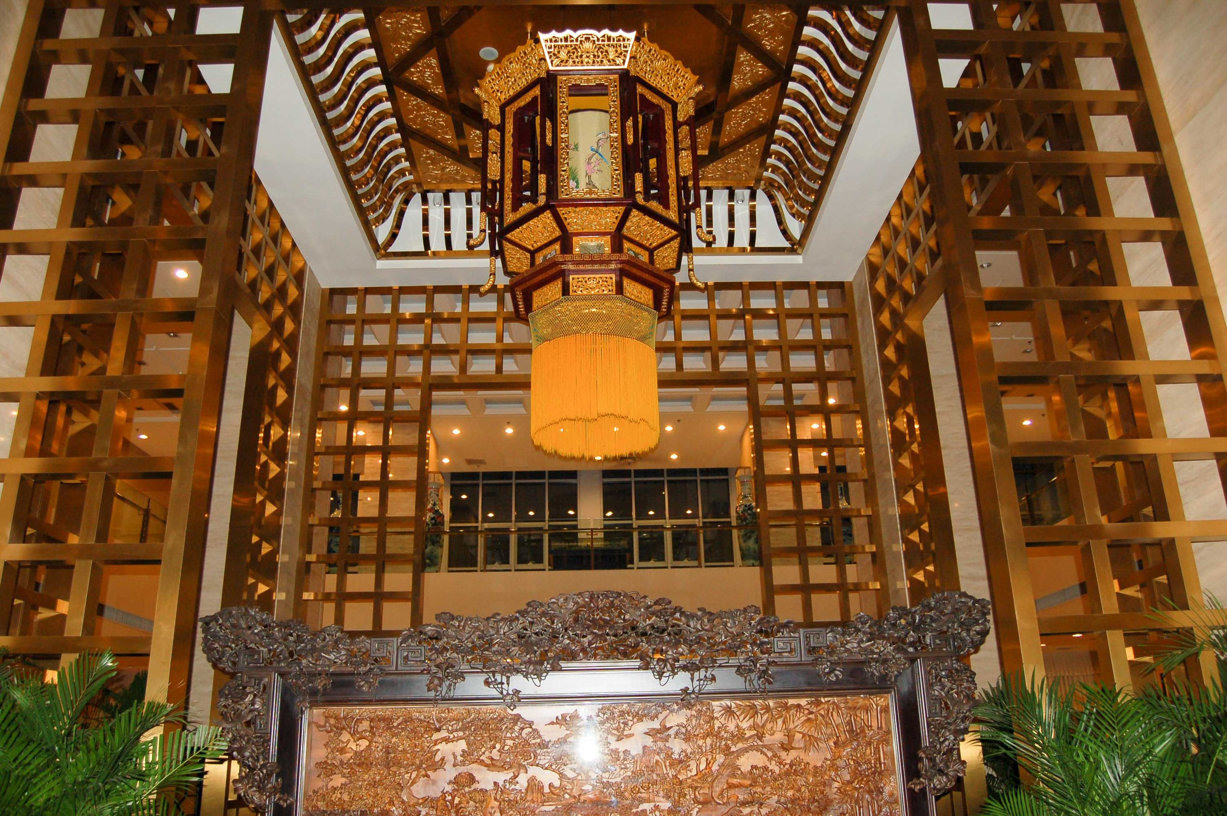 A view of the interior of our hotel in Beijing