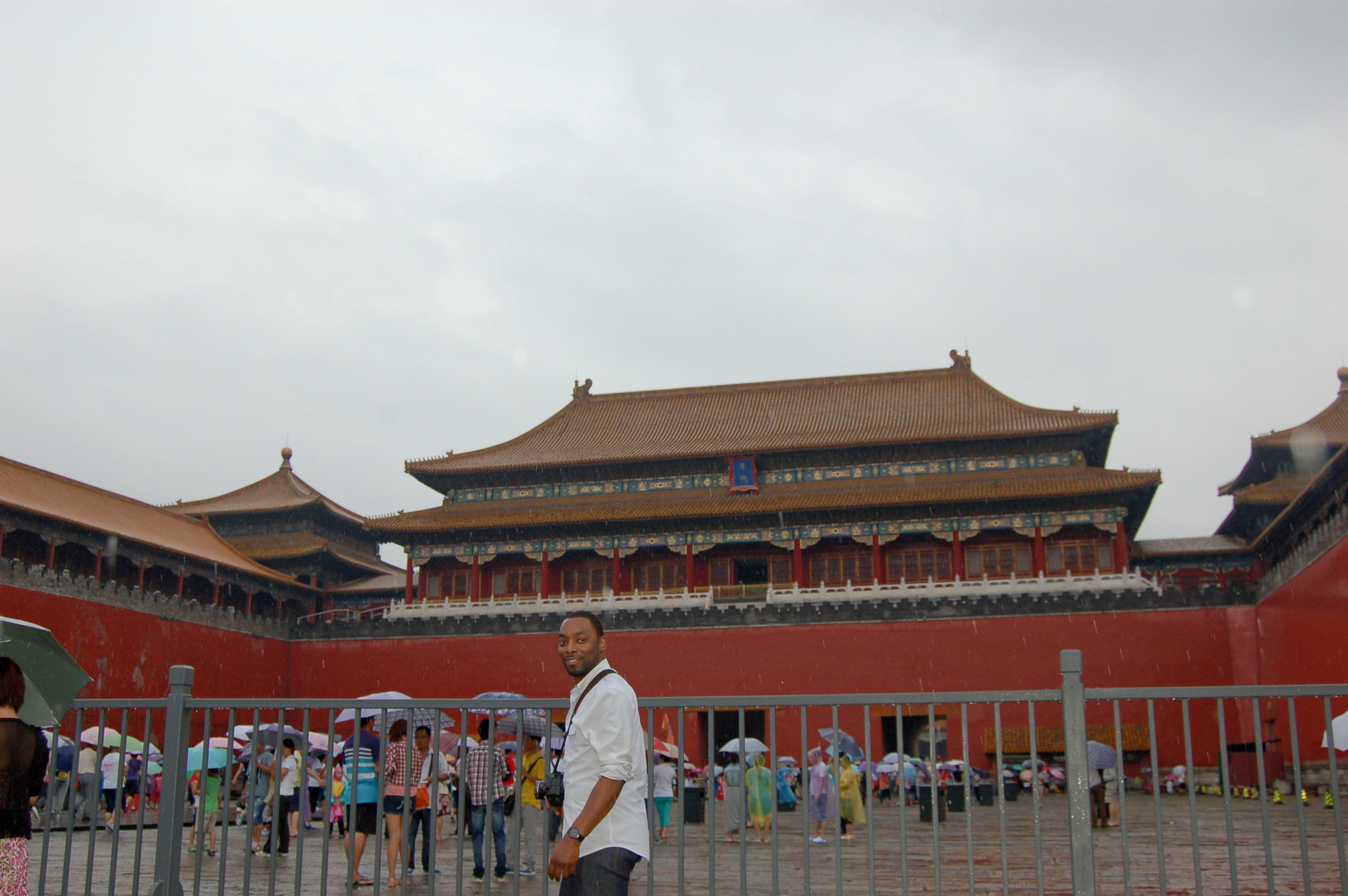 """At the entrance of the """"Forbidden City"""""""