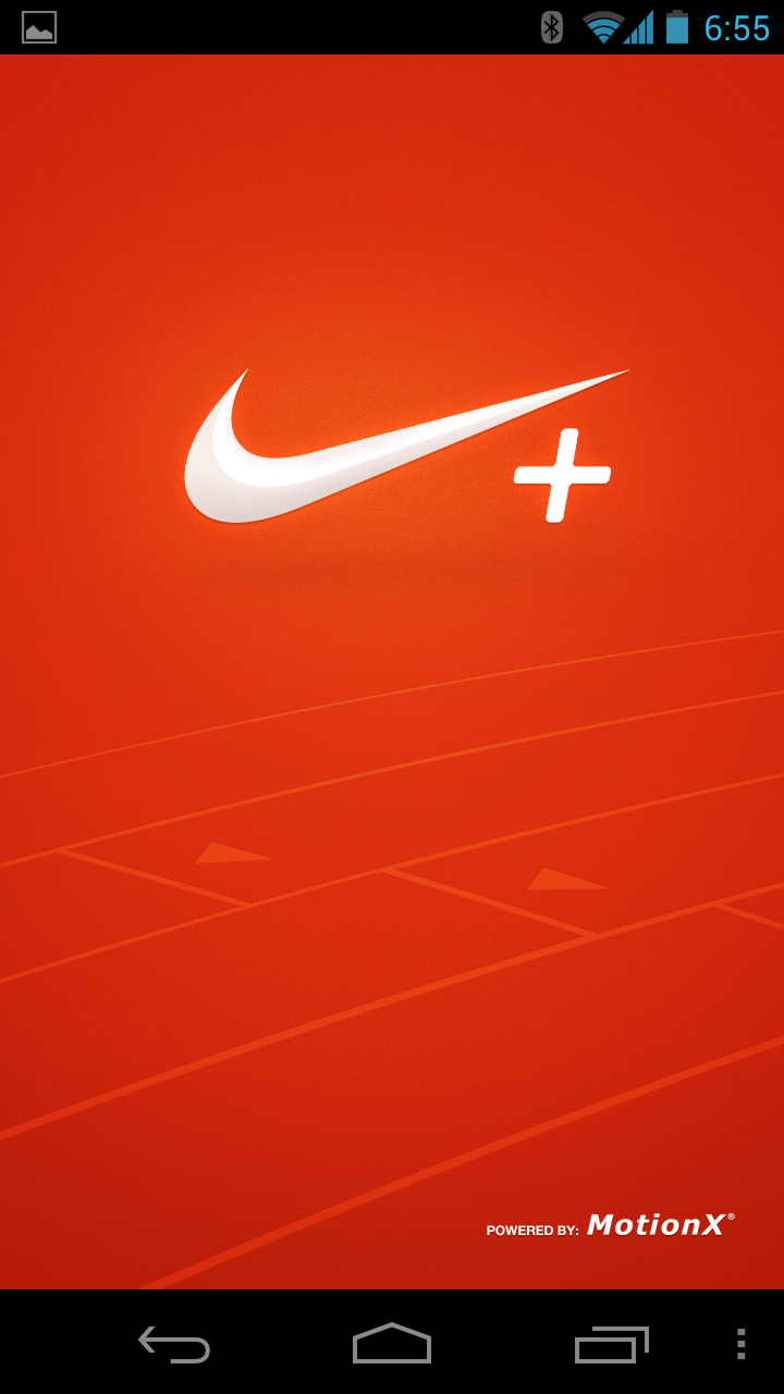 NIke+ Splash Screen