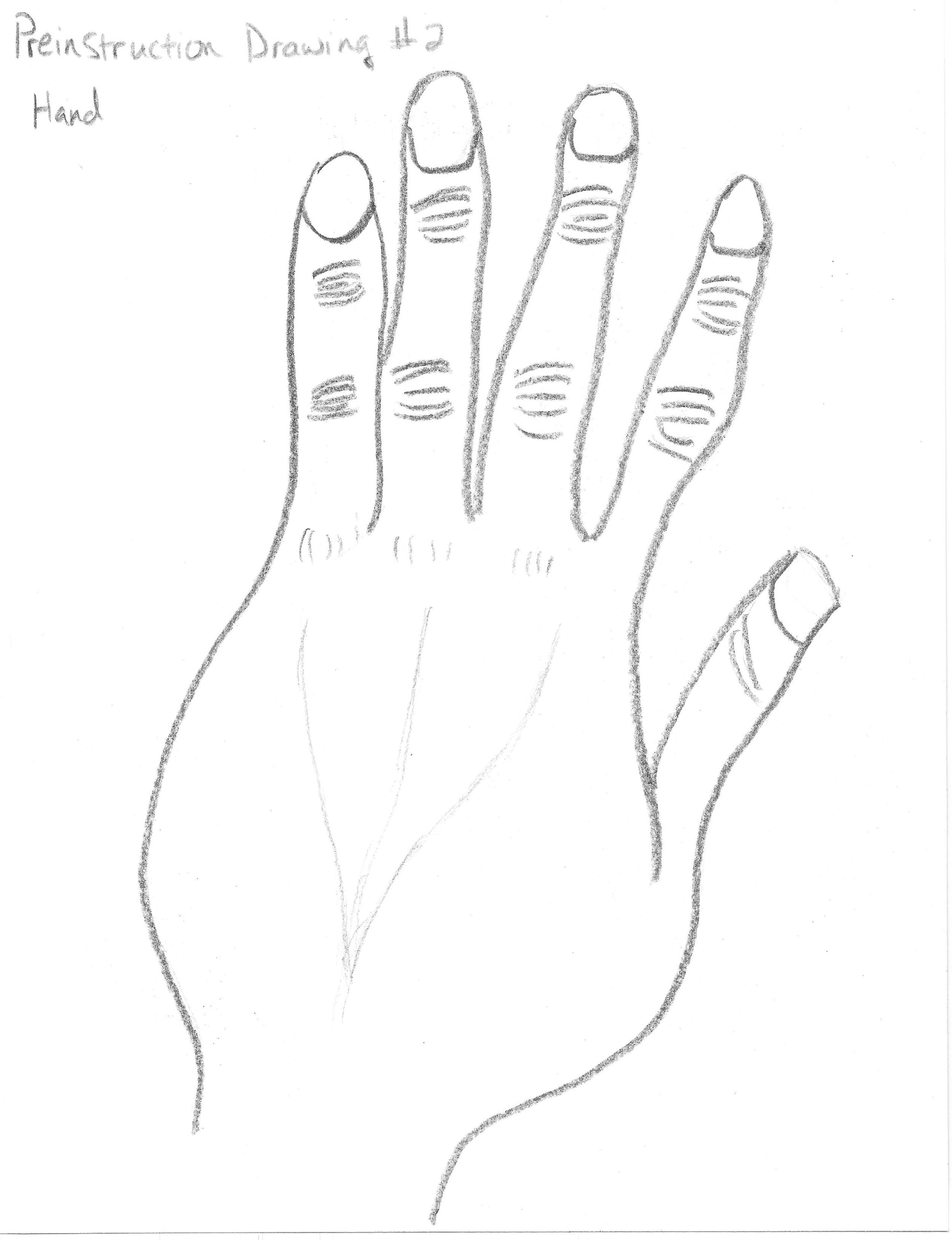 Preinstruction Drawing #2 - Hand