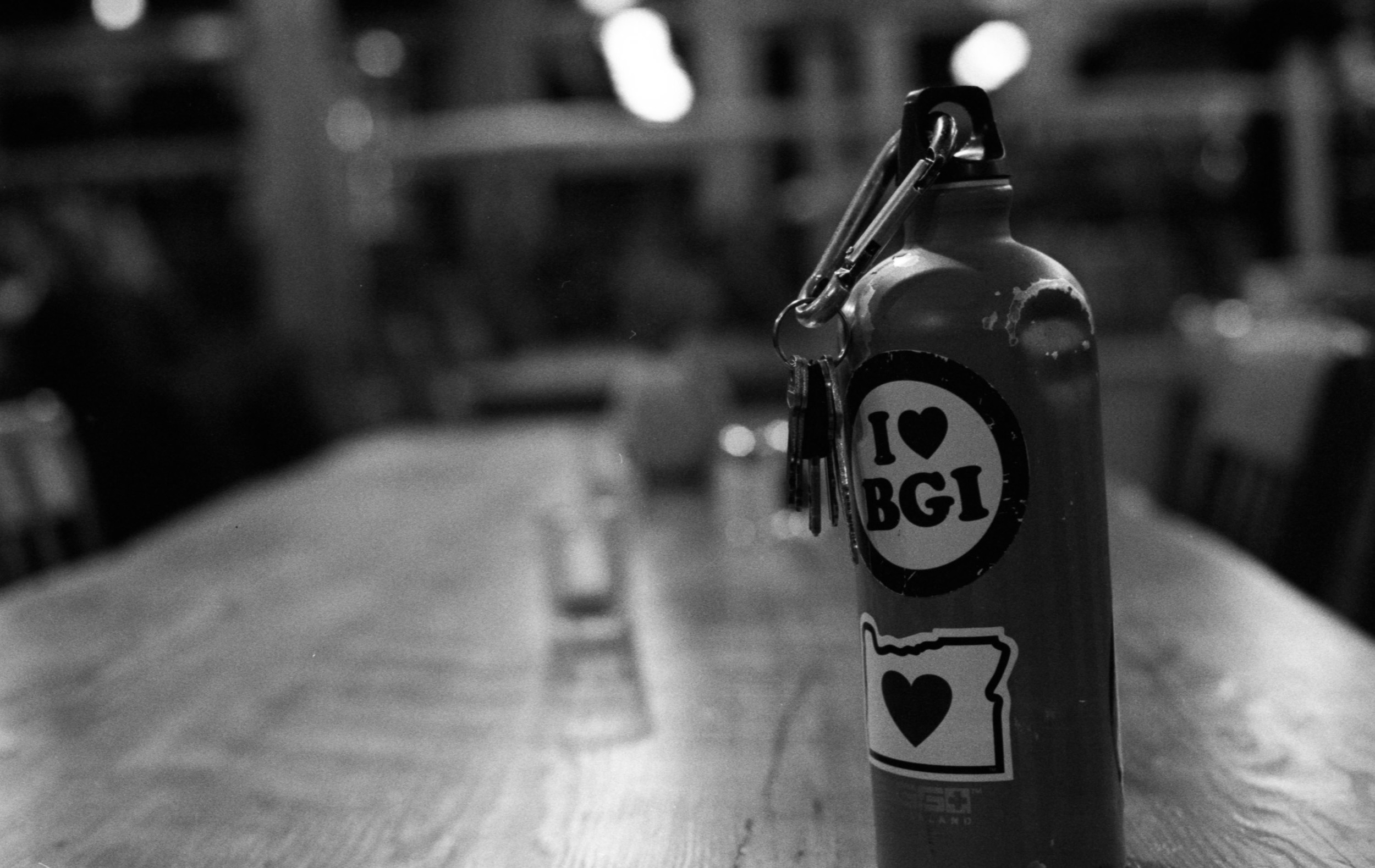 "The  I ""Love"" BGI   stickers are everywhere"