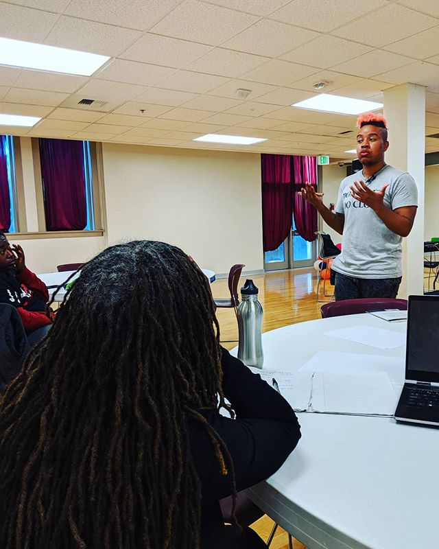 Enjoying the workshop @jmaseiii has put together to teach artists how to make a living doing what they love. Thank you for your gifts! For more free workshops and live performances check out http://weouthere.info. #weouthere2019  Are you coming to check out the live music from @itsthecity at 8?