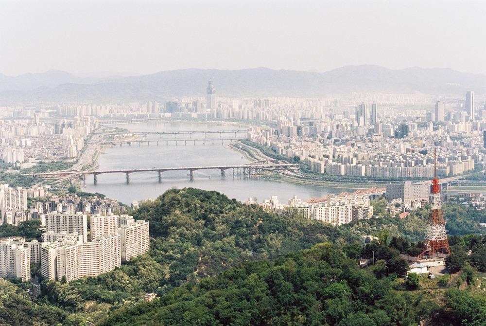 Seoul skyline, Korea -Kodak Portra 400