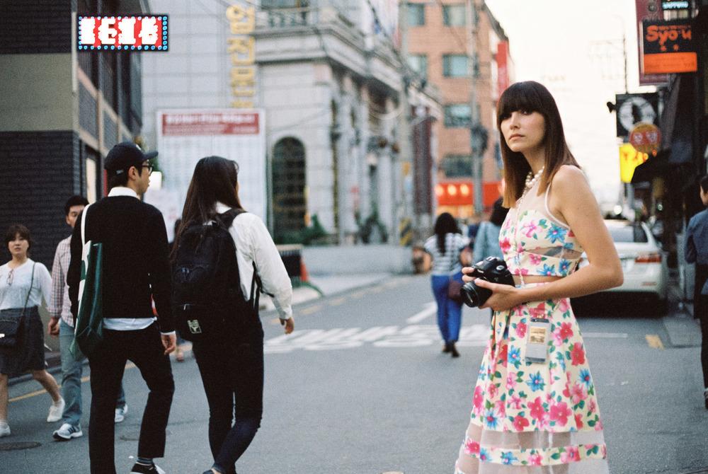 Shoot street style in Gangnam-Kodak Portra 400