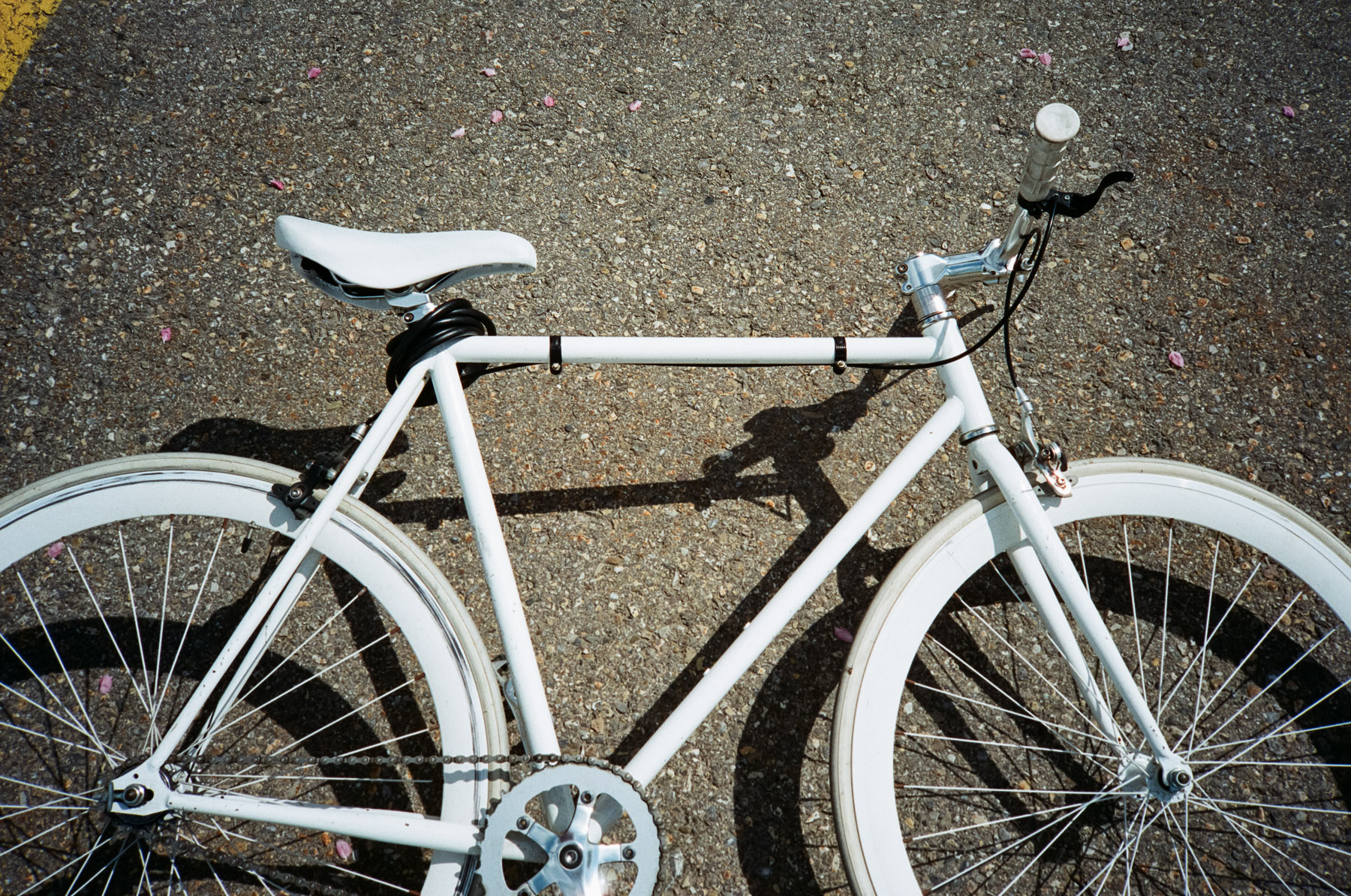 My bright white bike