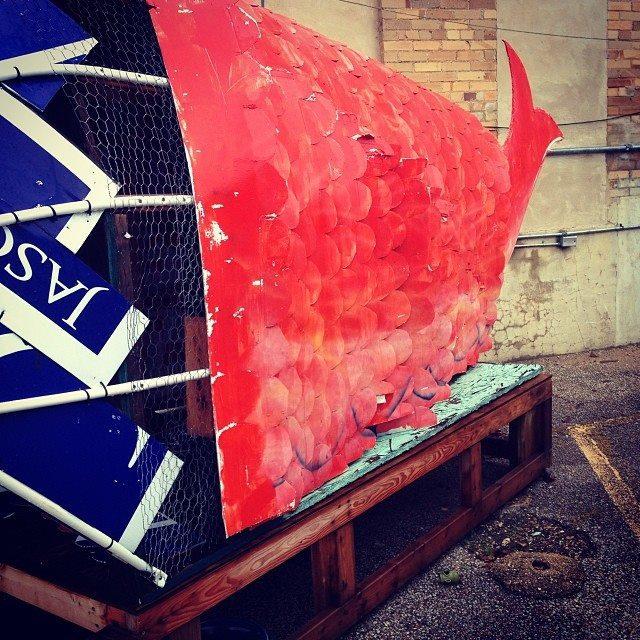 Big Fish ~ Lockhart, Texas © 2013 Skip Hunt