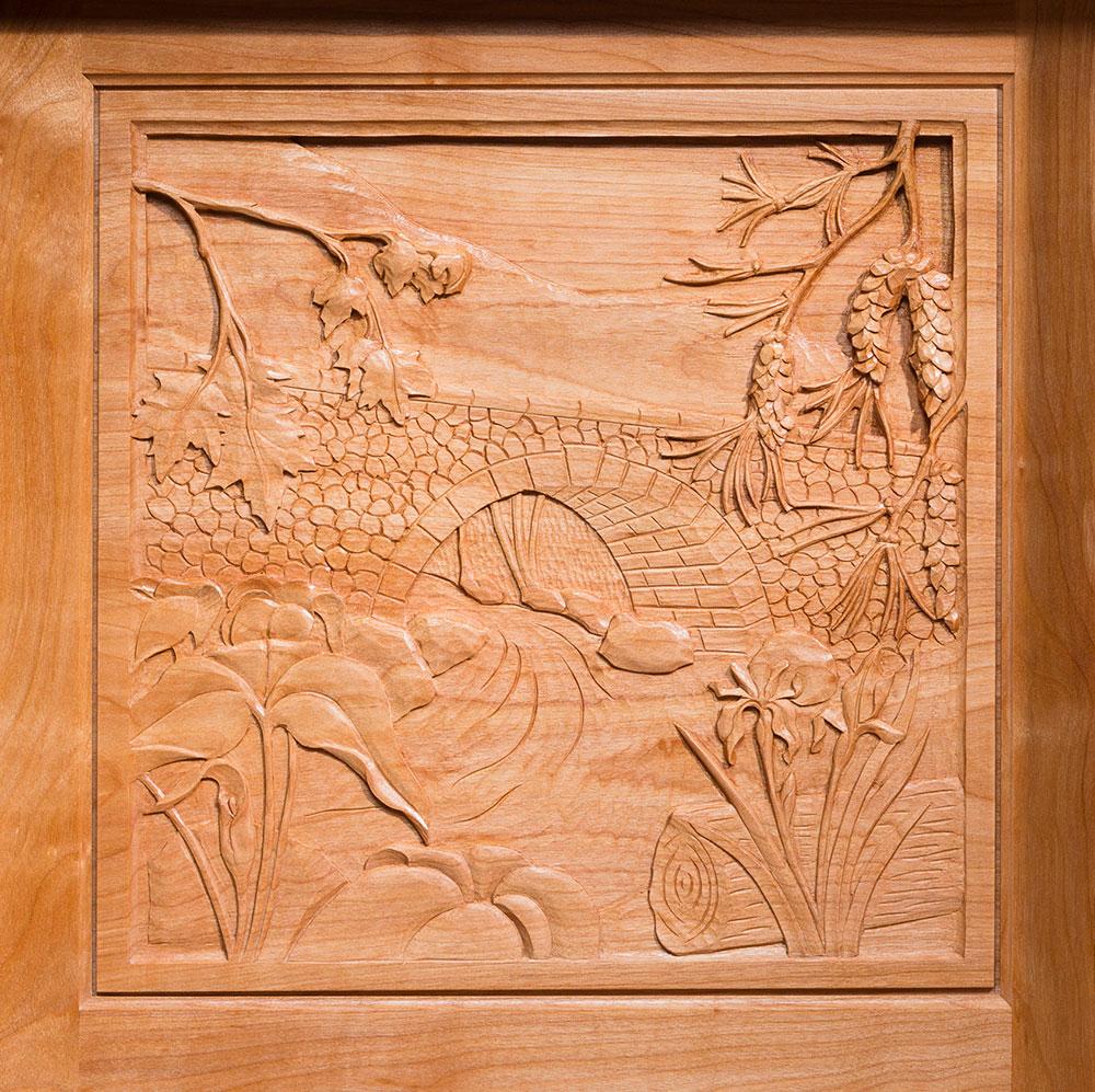 Acadia carving