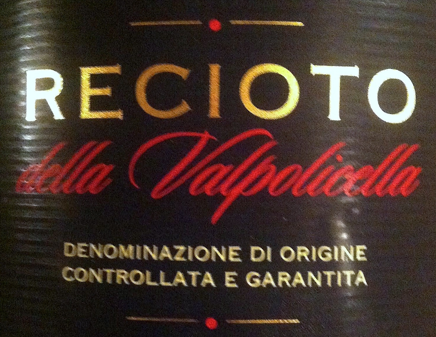 Recioto label