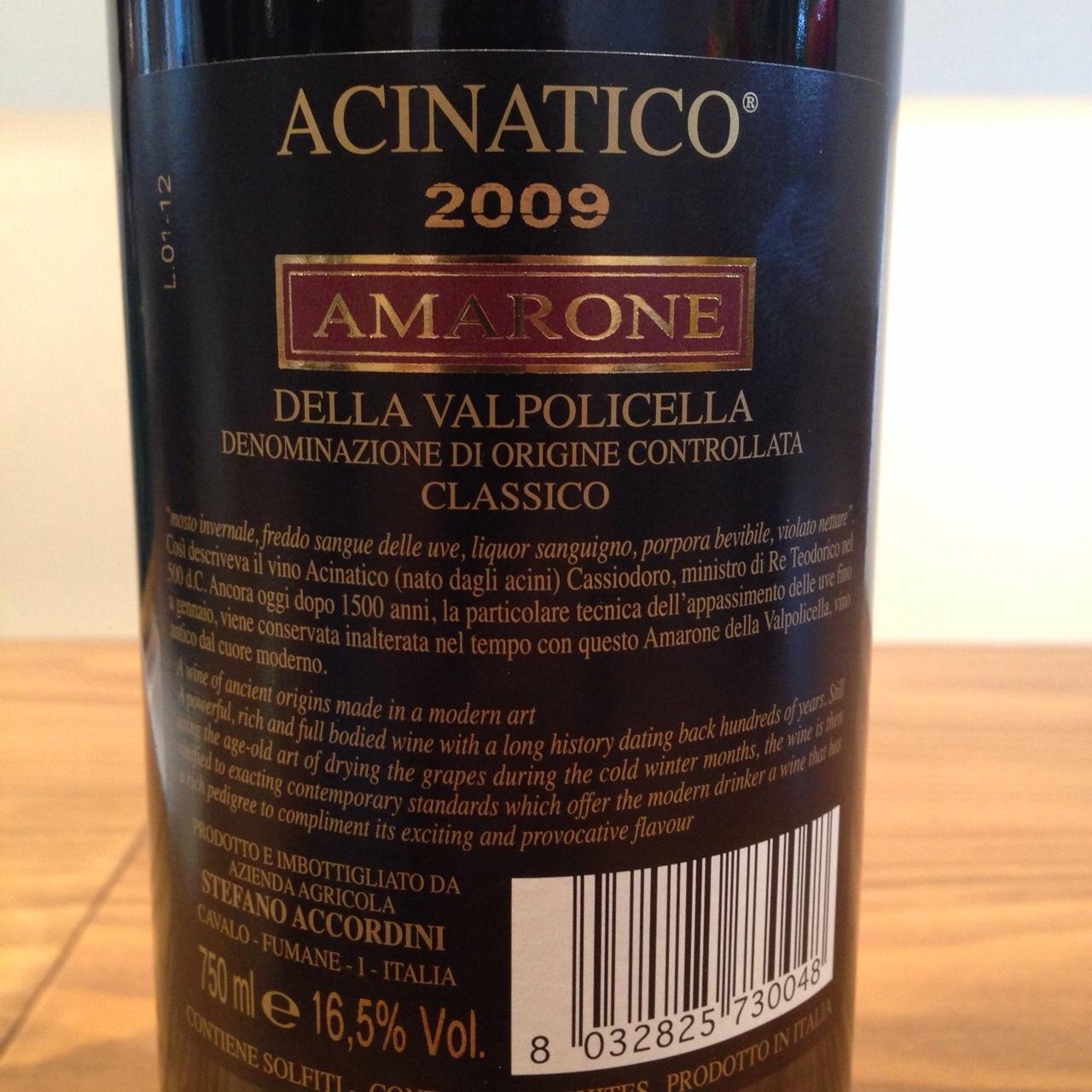 Accordini Acinatico Amarone 2009.JPG