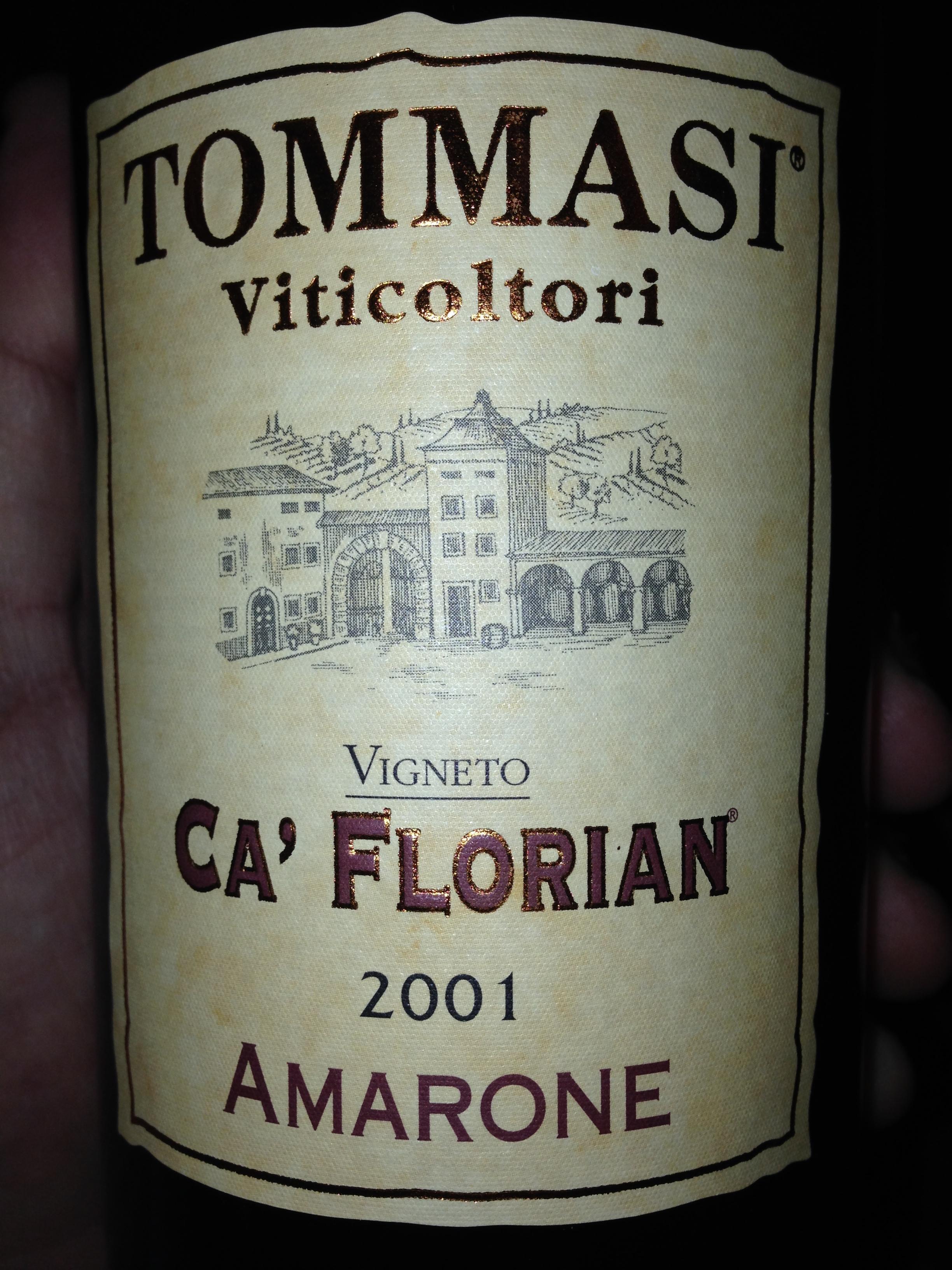 Tommasi Amarone Ca Florian 2001.JPG