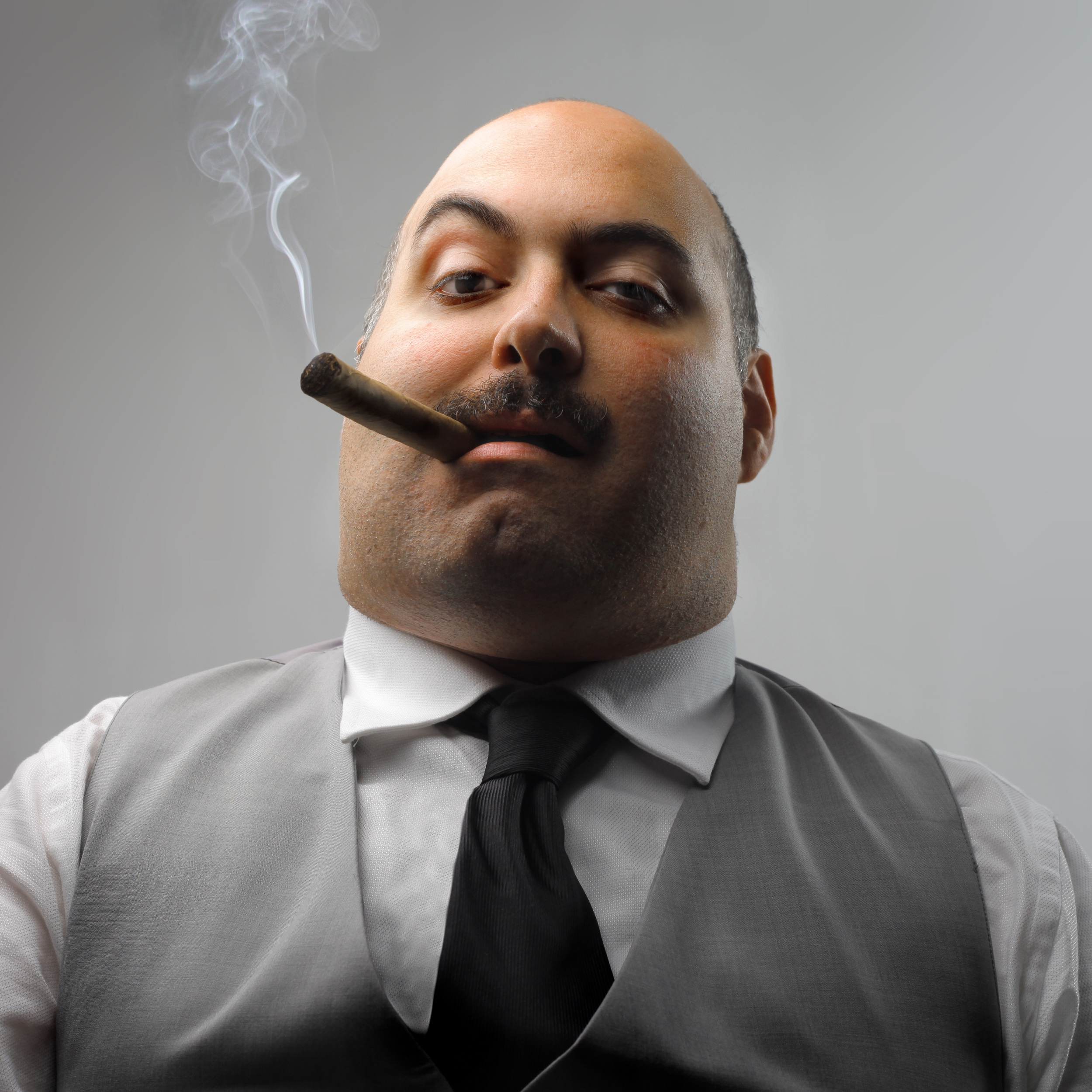 A boss so bad, only the subtlety of stock photography can do him justice.