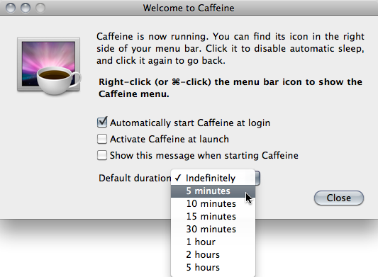 Caffeine's Preferences
