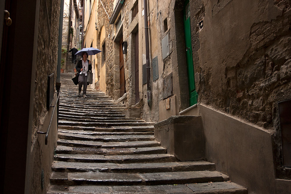 Rainy day, Cortona