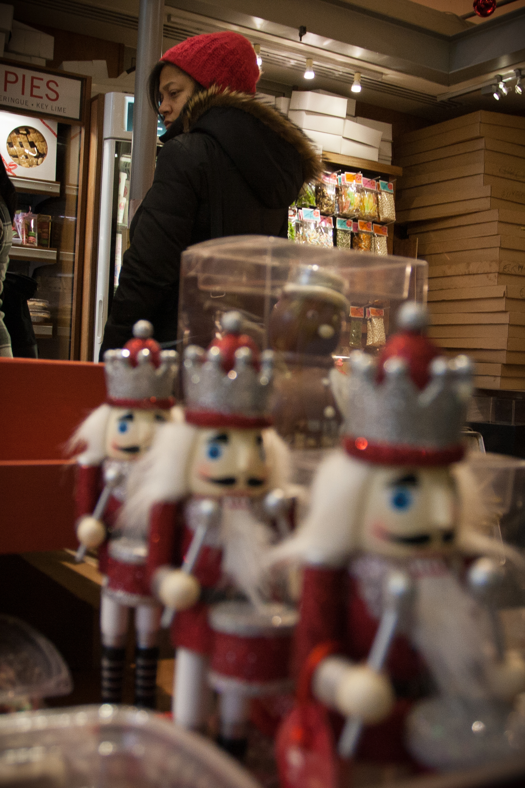 Holiday shopping at the Grand Central Market.