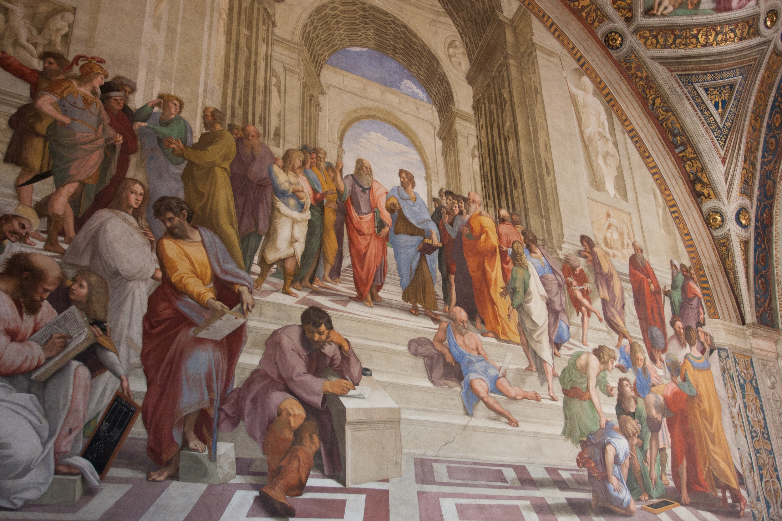"""""""The School of Athens"""" is one of Raphael's most famous paintings."""