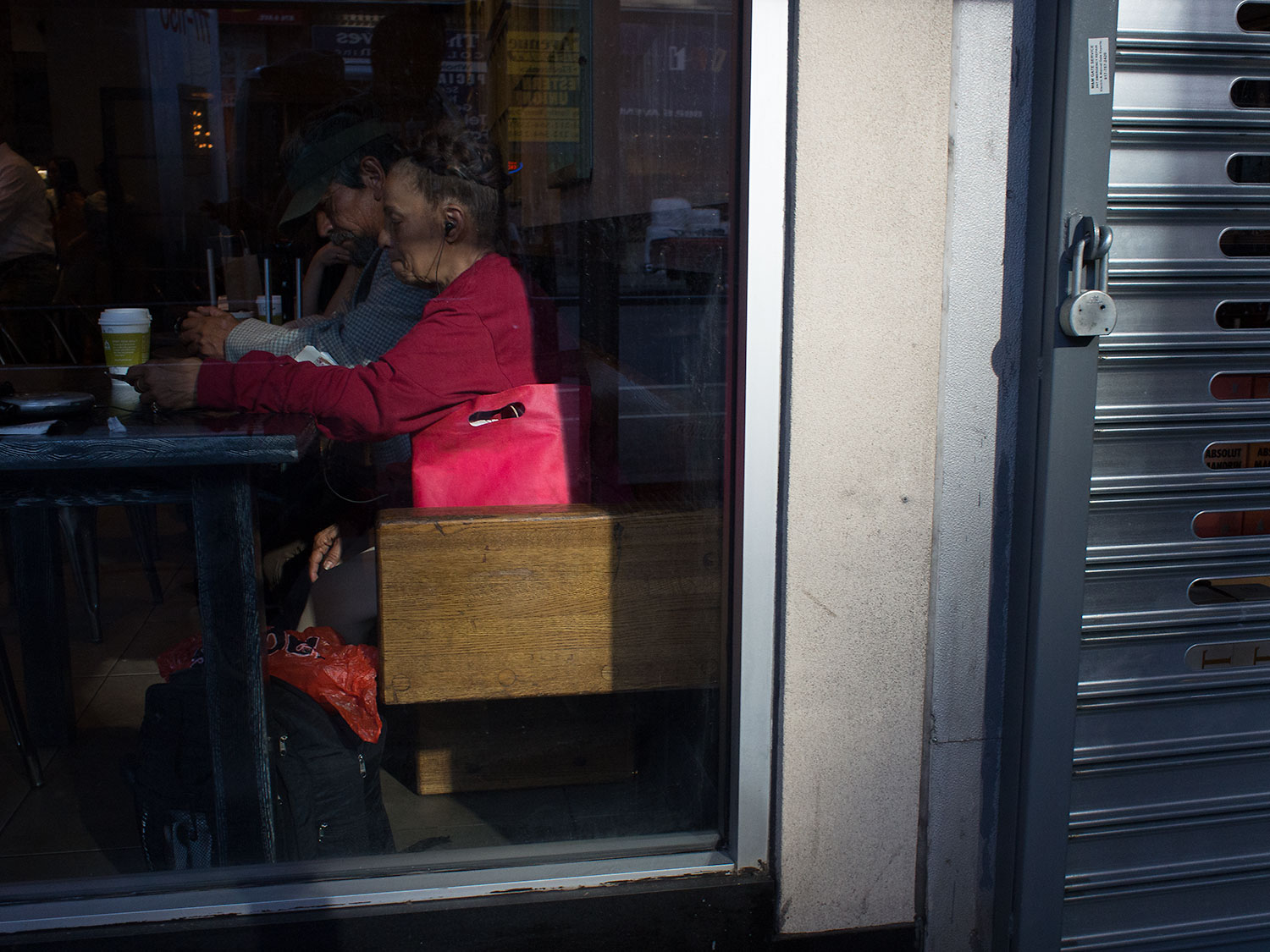 Quieter moments inside cafes and restaurants.