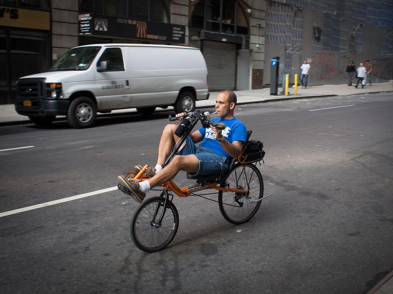 The healthy biker...