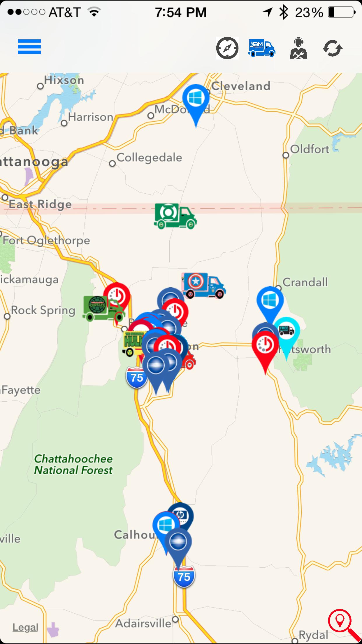 Service Tracking iOS App