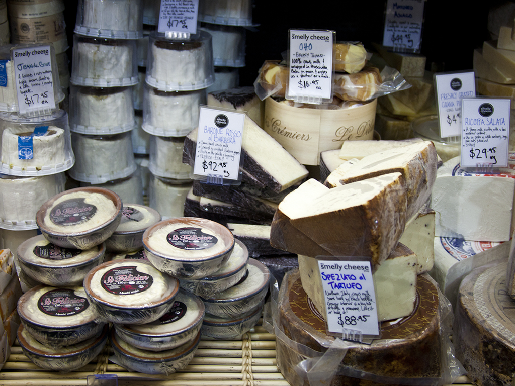 "Part of the cheese selection - Stall S44 ""Smelly Cheese"""