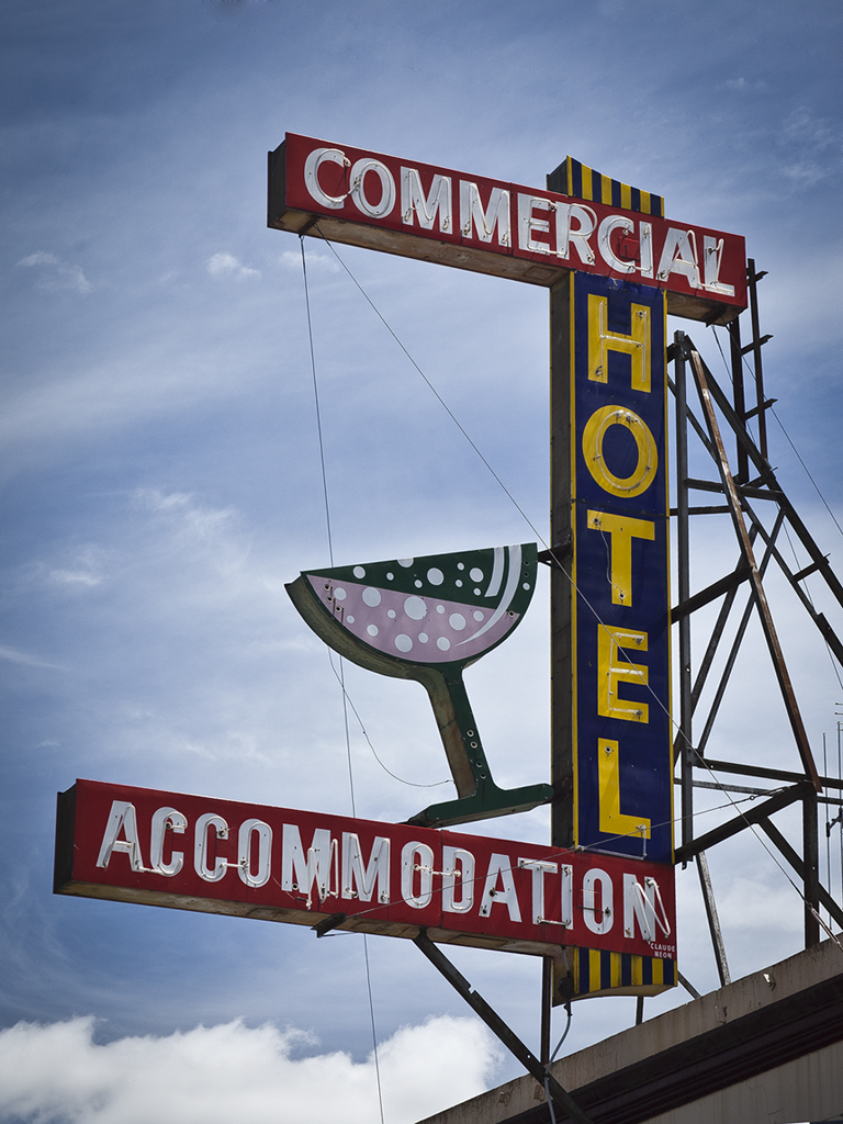 Commercial Hotel Sign
