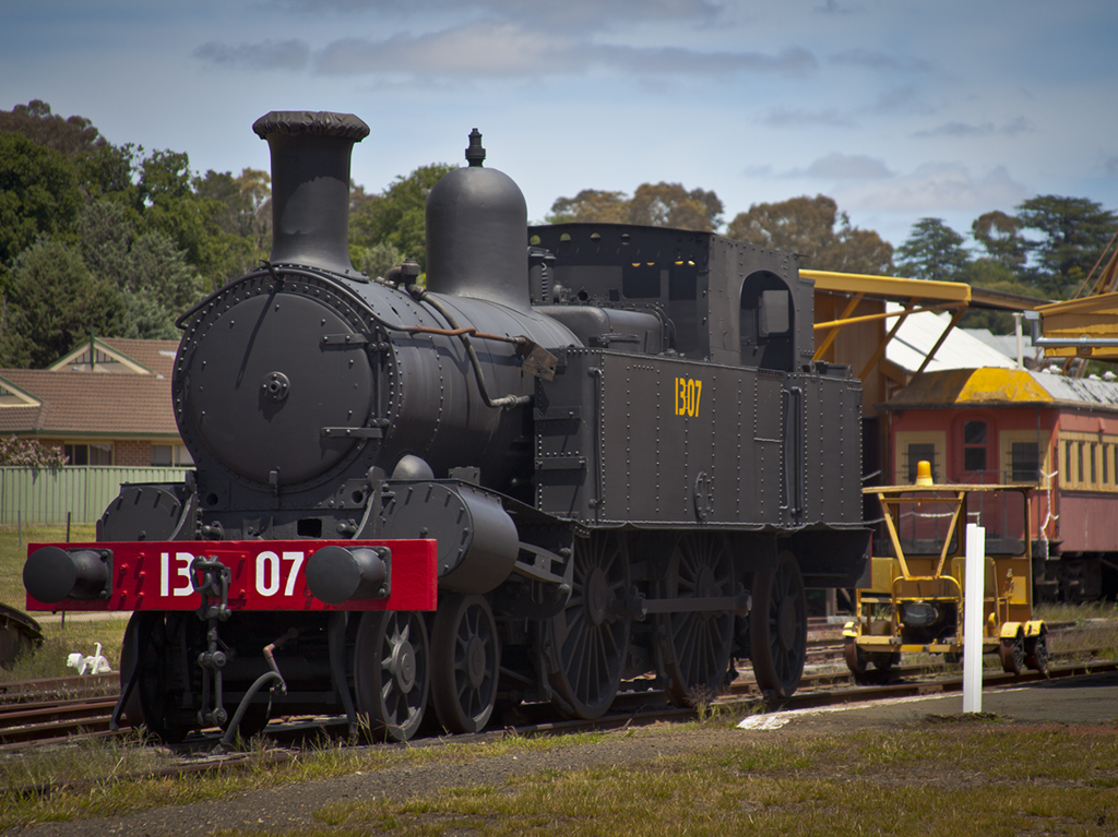 The old 4-4-2 steam locomotive 130