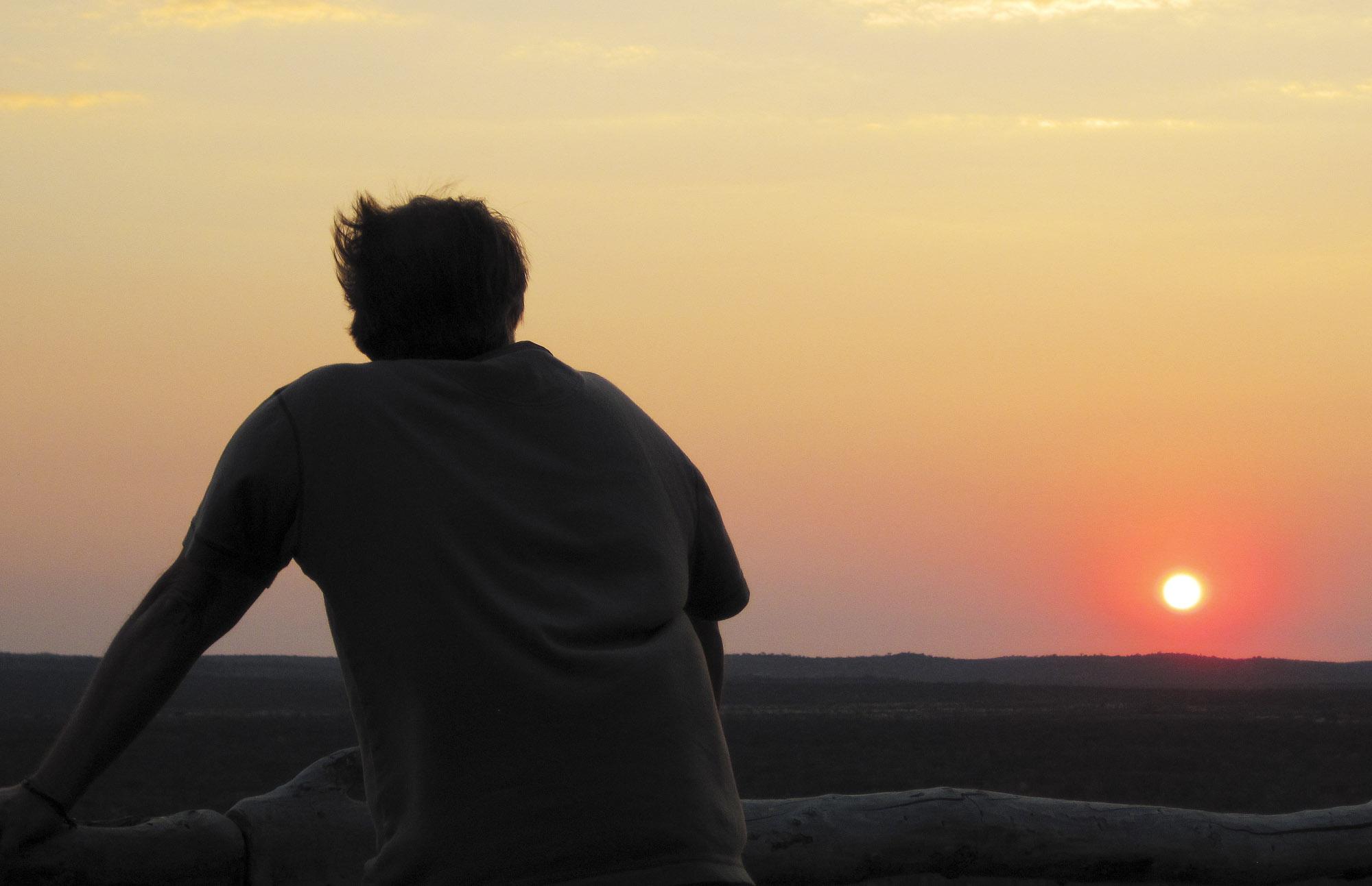 Watching the sunset at Ongava